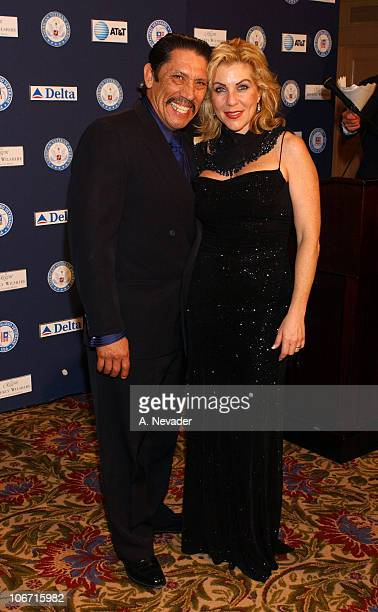 Danny Trejo and wife Debbie during Hollywood Joins Military Leaders in Honoring Kris Kristofferson as Veteran of the Year at the Eighth Annual...