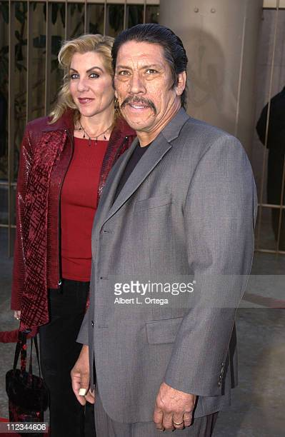 Danny Trejo and wife Debbie during The Salton Sea World Premiere at The Egyptian Theater in Hollywood California United States