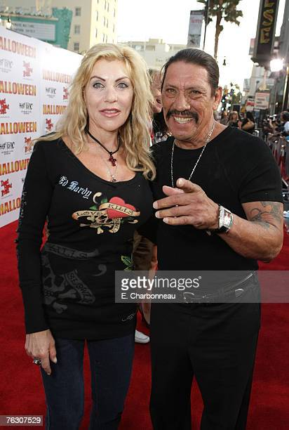 Danny Trejo and wife Debbie Trejo at the world premiere of Halloween at Grauman's Chinese Theatre on August 23 2007 in Hollywood California