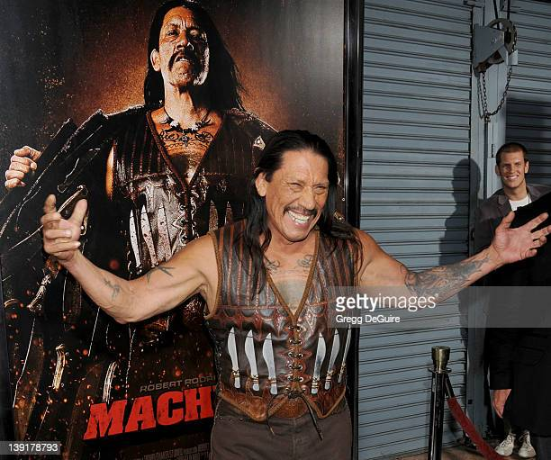 Danny Trejo arrives at the Los Angeles Screening of 'Machete' at the Orpheum Theater on August 25 2010 in Los Angeles California