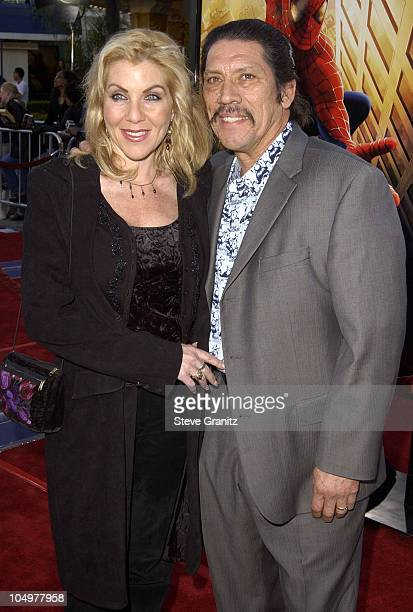 Danny Trejo wife Debbie during SpiderMan Premiere at Mann Village in Westwood California United States