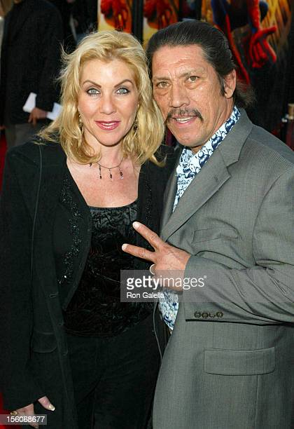 Danny Trejo wife Debbie during 'SpiderMan' Premiere at Mann Village in Westwood California United States