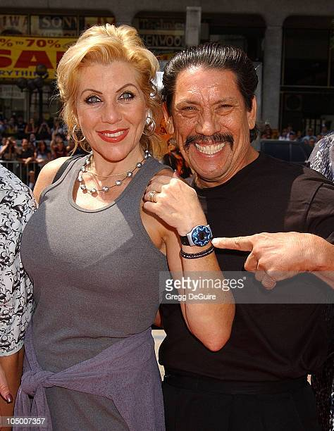 Danny Trejo wife Debbie during Spy Kids 2 The Island Of Lost Dreams Premiere at Grauman's Chinese Theatre in Hollywood California United States