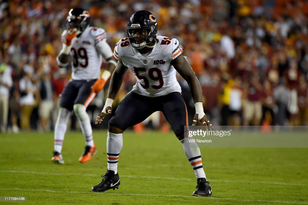 Chicago Bears v Washington Redskins : News Photo