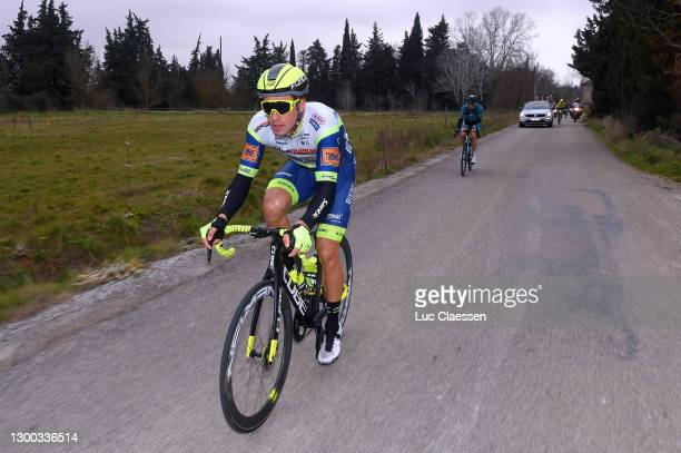 Danny Van Poppel of Netherlands and Team Intermarché - Wanty - Gobert Matériaux during the 51st Étoile de Bessèges - Tour du Gard 2021, Stage 2 a...