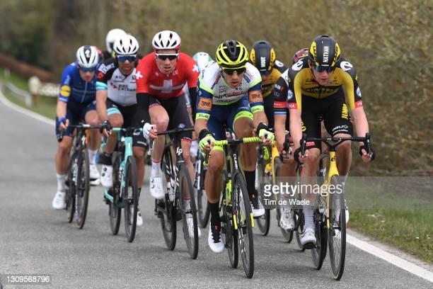 Danny Van Poppel of Netherlands and Team Intermarché - Wanty - Gobert Matériaux & Nathan Van Hooydonck of Belgium and Team Jumbo - Visma during the...