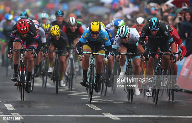 Danny Van Poppel of Team Sky and the Netherlands wins the second stage of the 2016 Tour de Yorkshire between Otley and Doncaster on April 30, 2016 in...