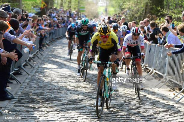 Danny Van Poppel of The Netherlands and Team Jumbo - Visma / Cobblestones / during the 62nd E3 Harelbeke 2019 a 203,9km race from Harelbeke to...