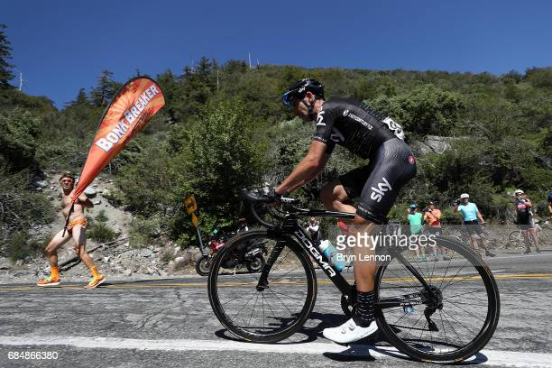 Danny Van Poppel of The Netherlands and Team SKY in action on stage five of the AMGEN Tour of California from Ontario to Mt. Baldy on May 18, 2017 in...