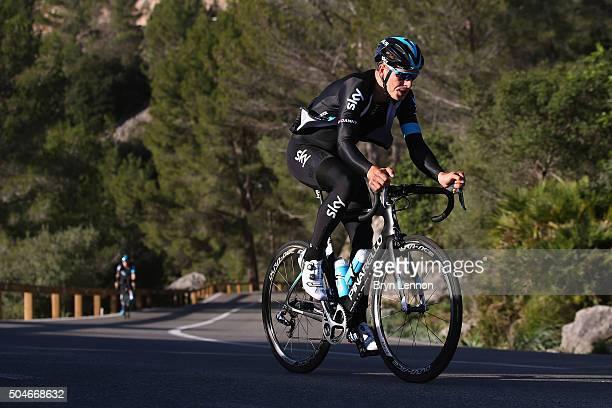 Danny van Poppel of The Netherlands in action during a media day at a Team Sky Training Camp on January 12, 2016 in Mallorca, Spain.