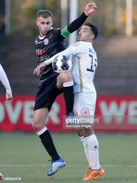 Danny Verbeek of FC Den Bosch Anass Najah of Telstar during the Dutch Keuken Kampioen Divisie match between Telstar v FC Den Bosch at the Rabobank...