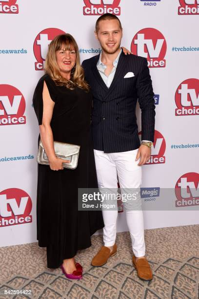 Danny Walters arrives at the TV Choice Awards at The Dorchester on September 4 2017 in London England