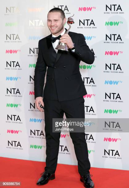 Danny Walters with the Newcomer award for 'EastEnders' during the National Television Awards 2018 at the O2 Arena on January 23 2018 in London England