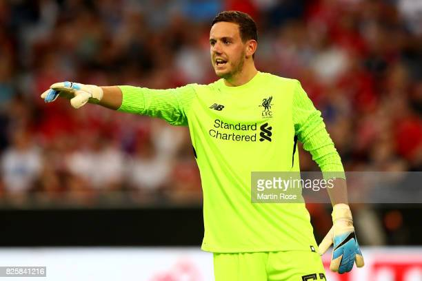 Danny Ward goalkeeper of Liverpool gestures during the Audi Cup 2017 match between Liverpool FC and Atletico Madrid at Allianz Arena on August 2 2017...
