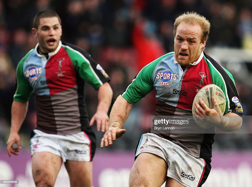 Danny Ward of Harlequins RL in action during the engage Super League match between Harlequins RL and Catalan Dragons at The Stoop on March 21, 2008 in Twickenham, England.