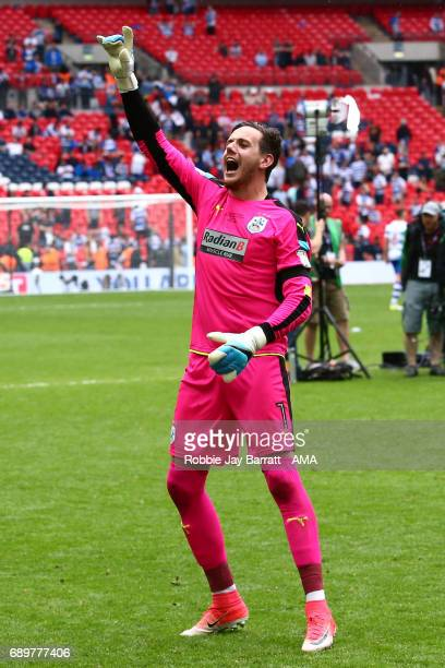 Danny Ward of Huddersfield Town celebrate during the Sky Bet Championship Play Off Final match between Reading and Huddersfield Town at Wembley...