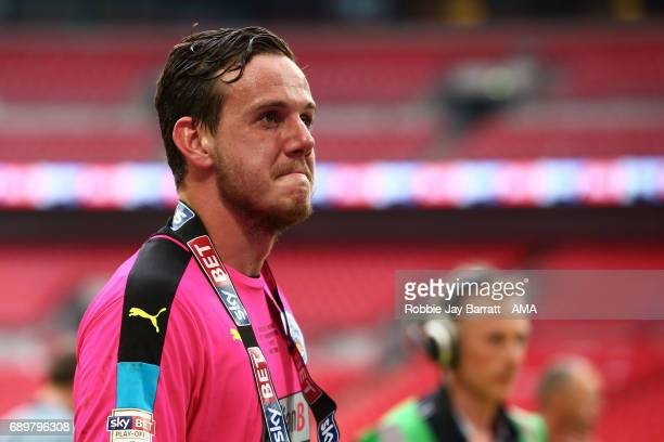 Danny Ward of Huddersfield Town emotional during the Sky Bet Championship Play Off Final match between Reading and Huddersfield Town at Wembley...