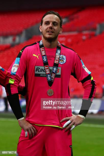 Danny Ward of Huddersfield Town soaks in the atmosphere during the Sky Bet Championship Play Off Final match between Reading and Huddersfield Town at...