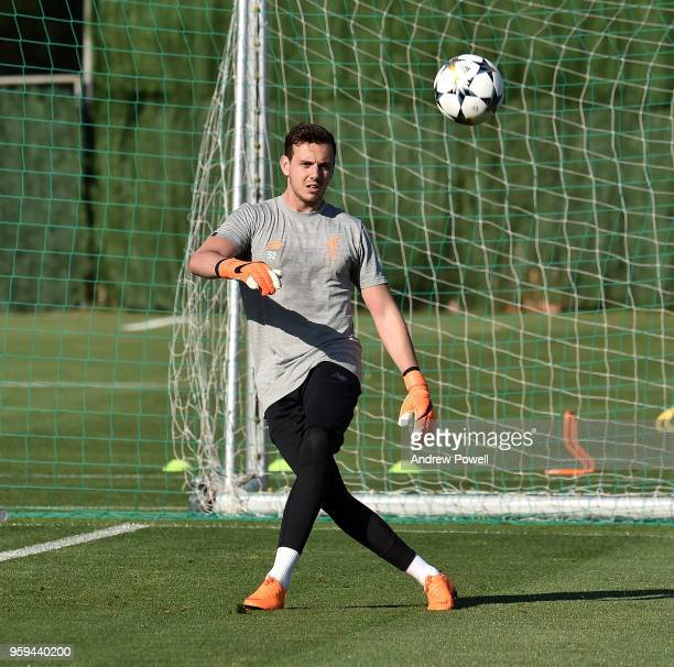 Danny Ward of Liverpool during a training session at Marbella Football Center on May 16 2017 in San Pedro De Alcantara Spain