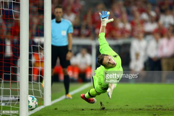 Danny Ward of Liverpool during the Audi Cup 2017 match between Liverpool FC and Atletico Madrid at Allianz Arena on August 2 2017 in Munich Germany