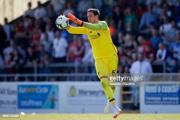 Danny Ward of Liverpool during the Preseason friendly between Chester City and Liverpool at Swansway Chester Stadium on July 7 2018 in Chester United...