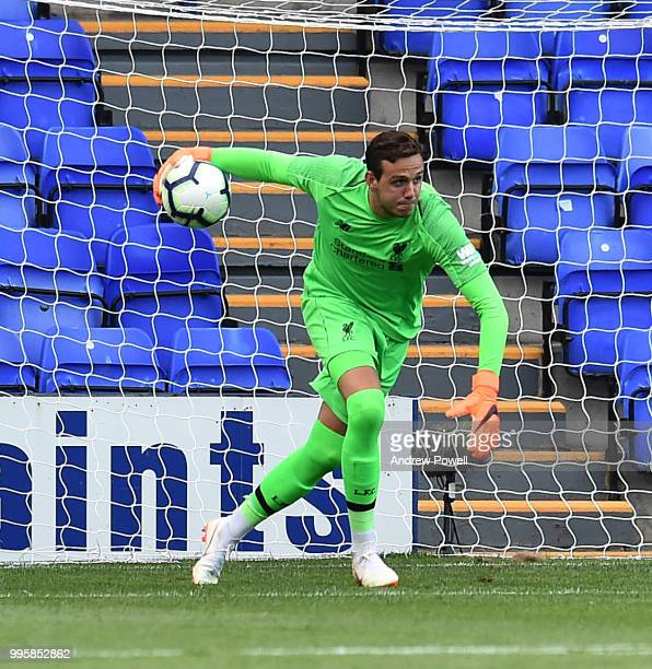 Danny Ward of Liverpool during the preseason friendly match between Tranmere Rovers and Liverpool at Prenton Park on July 10 2018 in Birkenhead...