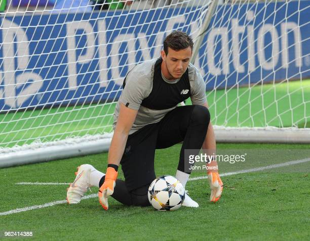 Danny Ward of Liverpool during training session before the UEFA Champions League final between Real Madrid and Liverpool on May 22 2018 in Kiev...
