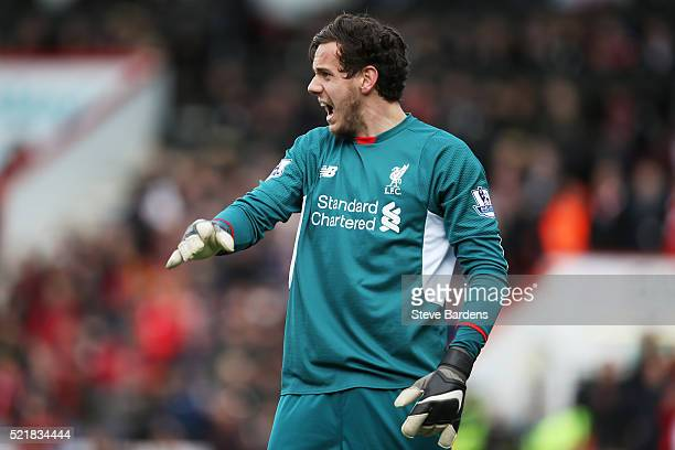 Danny Ward of Liverpool in action during the Barclays Premier League match between AFC Bournemouth and Liverpool at the Vitality Stadium on April 17...