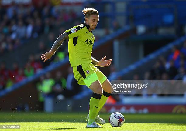 Danny Ward of Rotherham United scores the opening goal during the Sky Bet Championship match between Blackburn Rovers and Rotherham United at Ewood...
