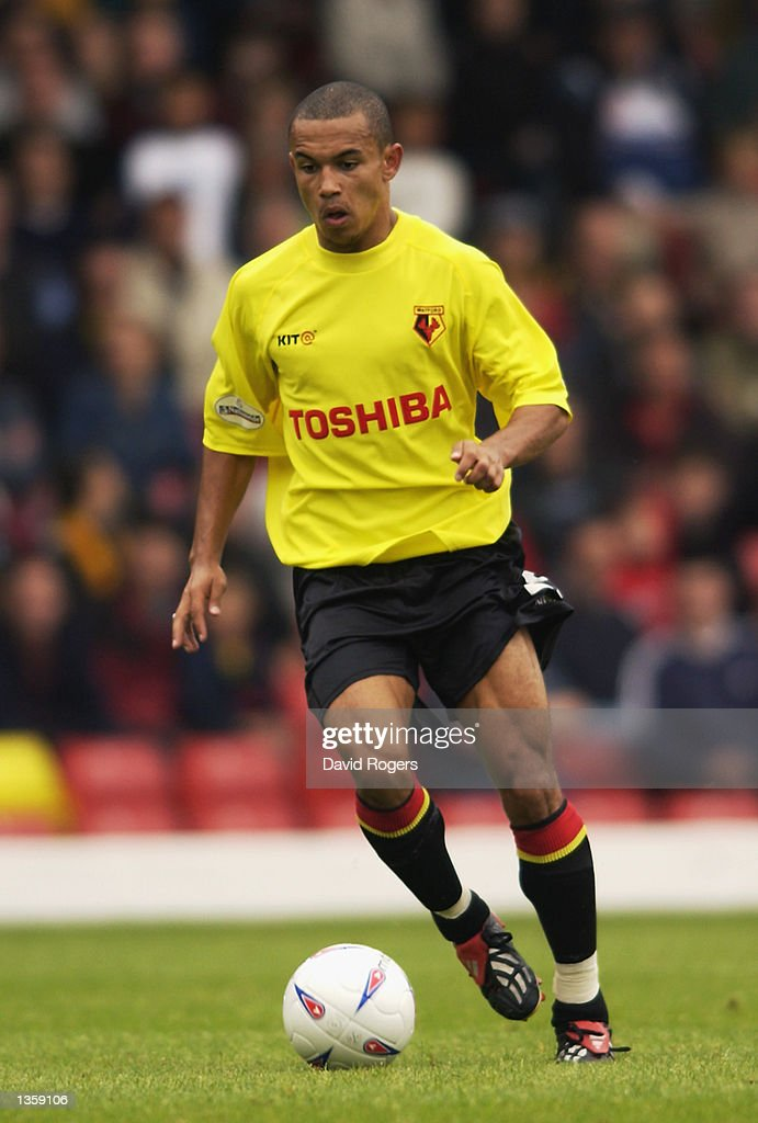 Danny Webber of Watford in action during the Nationwide League Division One match between Watford and Coventry City at Vicarage Road, Watford in England on August 26, 2002.