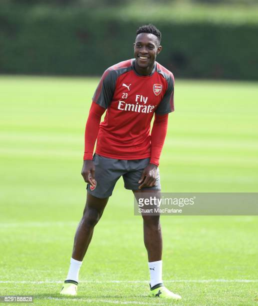 Danny Welbeck of Arsenal during a training session at London Colney on August 10, 2017 in St Albans, England.