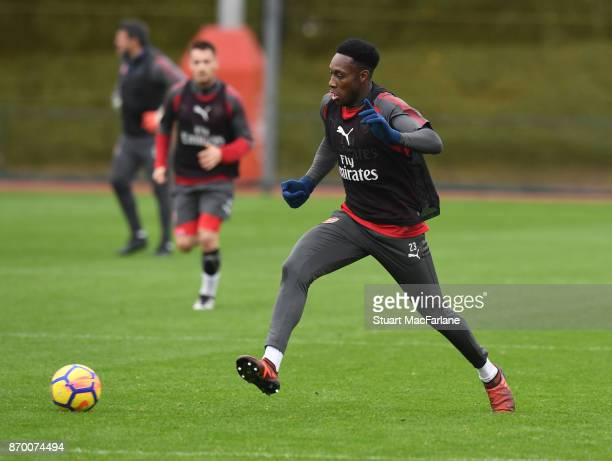 Danny Welbeck of Arsenal during a training session at London Colney on November 4 2017 in St Albans England