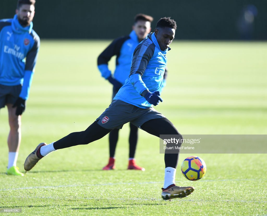 Danny Welbeck of Arsenal during a training session at London Colney on December 1, 2017 in St Albans, England.