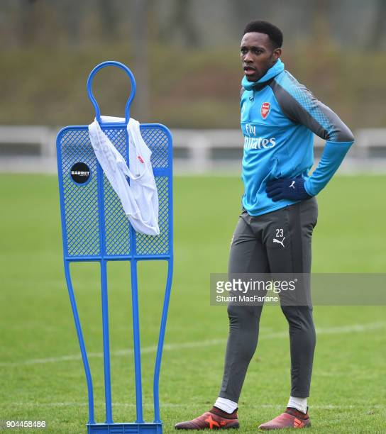 Danny Welbeck of Arsenal during a training session at London Colney on January 13 2018 in St Albans England