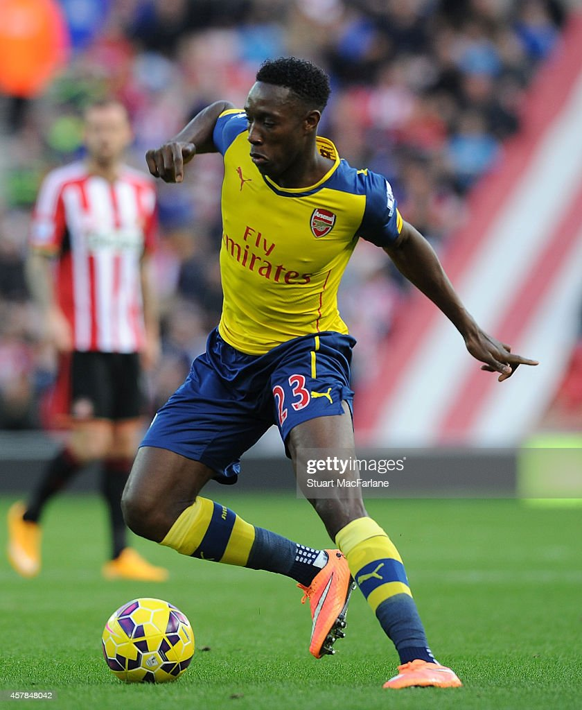 Danny Welbeck of Arsenal during the Barclays Premier League match between Sunderland and Arsenal at Stadium of Light on October 25, 2014 in Sunderland, England.