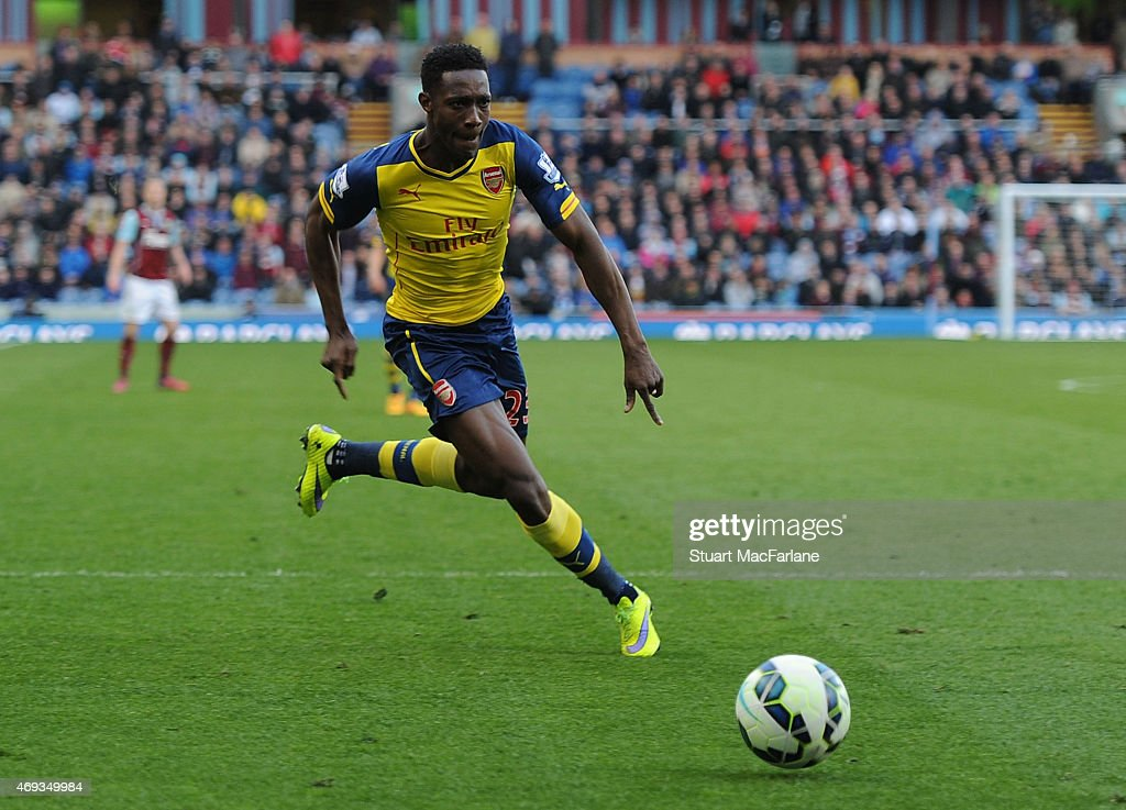 Danny Welbeck of Arsenal during the Barclays Premier League match between Burnley and Arsenal at Turf Moor on April 11, 2015 in Burnley, England.