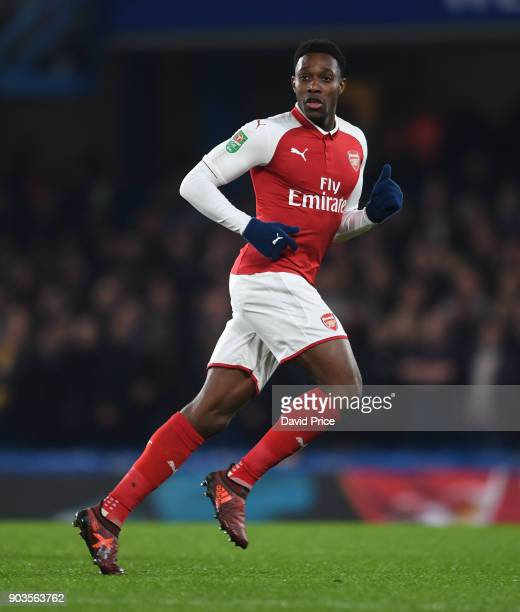 Danny Welbeck of Arsenal during the Carabao Cup Semie Final 1st leg match between Chelsea and Arsenal at Stamford Bridge on January 10 2018 in London...