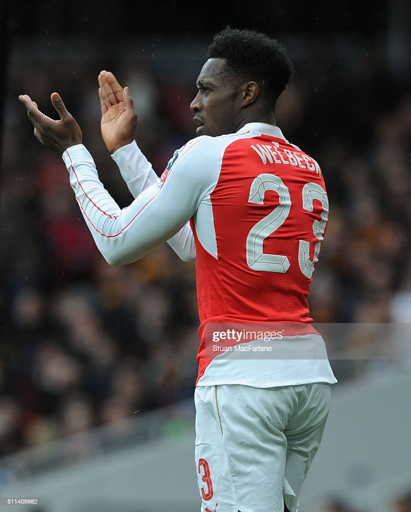 Danny Welbeck of Arsenal during the Emirates FA Cup Fifth Round match between Arsenal and Hull City at Emirates Stadium on February 20, 2016 in London, England.