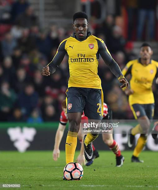 Danny Welbeck of Arsenal during the Emirates FA Cup Fourth Round match between Southampton and Arsenal at St Mary's Stadium on January 28 2017 in...