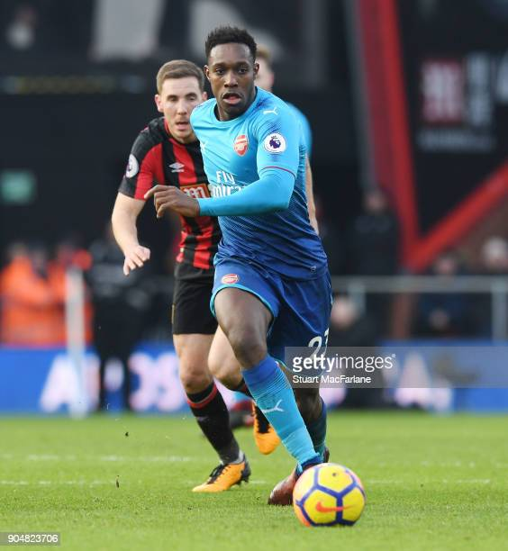 Danny Welbeck of Arsenal during the Premier League match between AFC Bournemouth and Arsenal at Vitality Stadium on January 14 2018 in Bournemouth...
