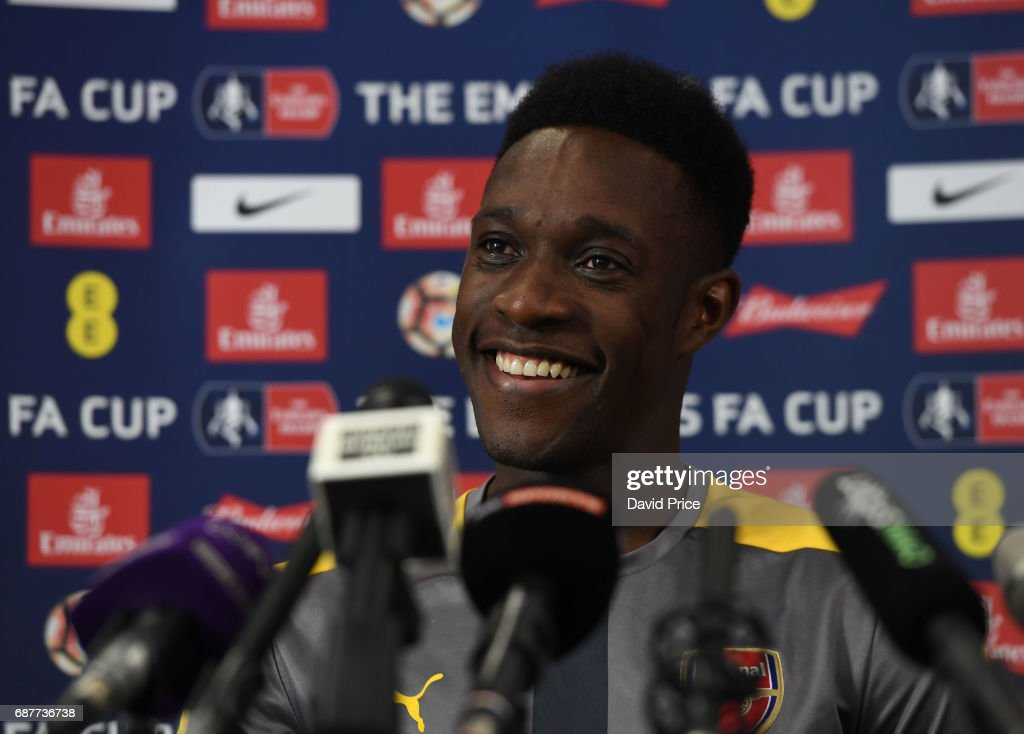 Danny Welbeck of Arsenal during the Press Conference at London Colney on May 24, 2017 in St Albans, England.