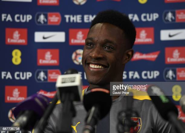 Danny Welbeck of Arsenal during the Press Conference at London Colney on May 24 2017 in St Albans England