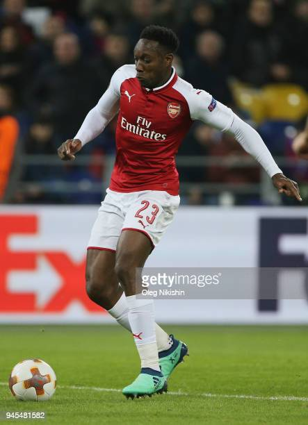 Danny Welbeck of Arsenal FC in action during the UEFA Europa League quarter final leg two match between PFC CSKA Moskva and Arsenal FC at CSKA Arena...