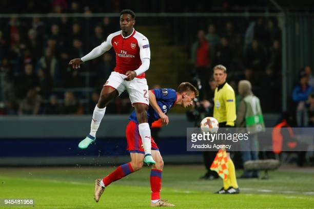 Danny Welbeck of Arsenal in action during the UEFA Europa League Quarterfinals second leg match between CSKA Moscow and Arsenal at CSKA VEB Arena in...