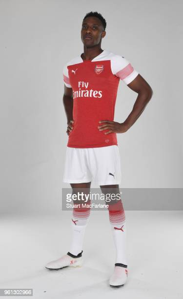 Danny Welbeck of Arsenal in the new home kit for season 201819 on March 16 2018 in St Albans England