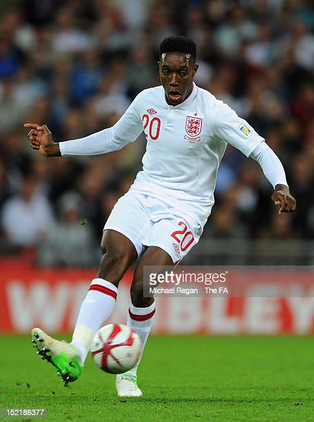 Danny Welbeck of England in action during the FIFA 2014 World Cup qualifier group H match between England and Ukraine at Wembley Stadium on September...