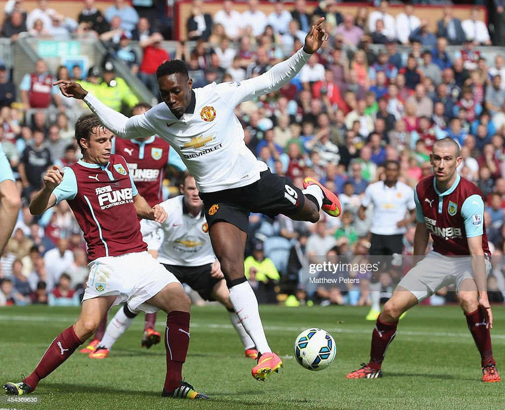 Danny Welbeck of Manchester United in action during the Barclays Premier League match between Burnley and Manchester United at Turf Moor on August 30, 2014 in Burnley, England.