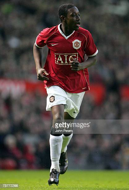 Danny Welbeck of Manchester United in action during the FA Youth Cup semi-final second leg match between Manchester United Under-18s and Arsenal...