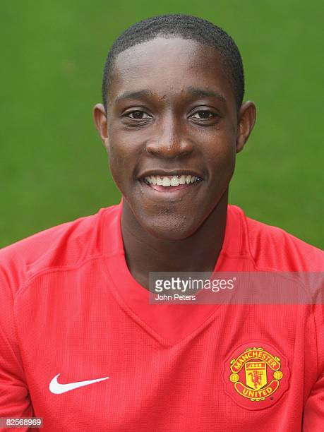 Danny Welbeck of Manchester United poses during the club's official annual photocall at Old Trafford on August 27 2008 in Manchester England