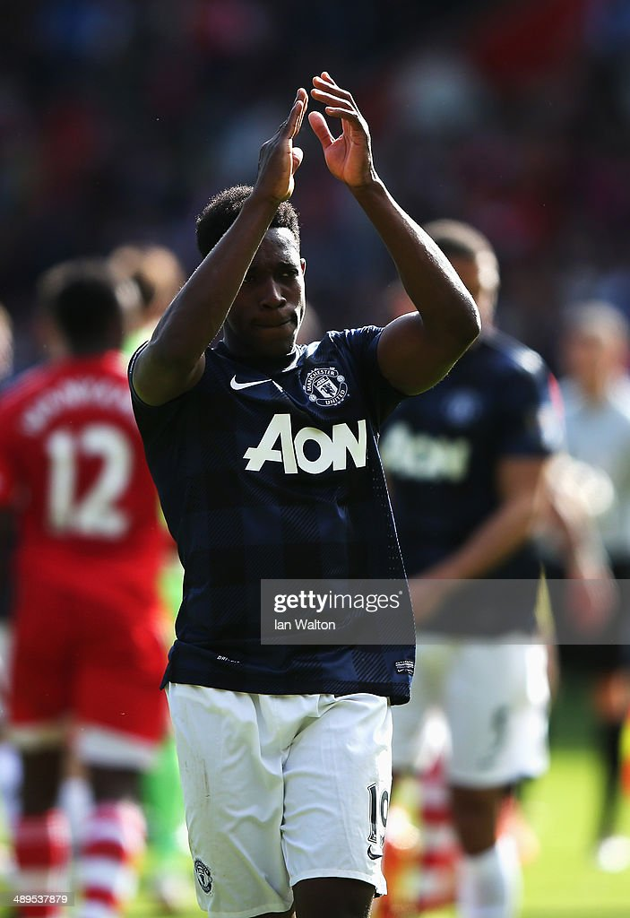 Danny Welbeck of Manchester United walks on the pitch following the Barclays Premier League match between Southampton and Manchester United at St Mary's Stadium on May 11, 2014 in Southampton, England.